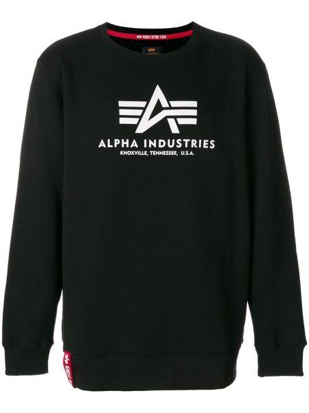 Черный свитер из полиэстера Alpha Industries