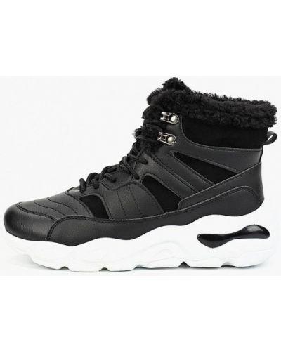 Высокие кроссовки замшевые черные Patrol