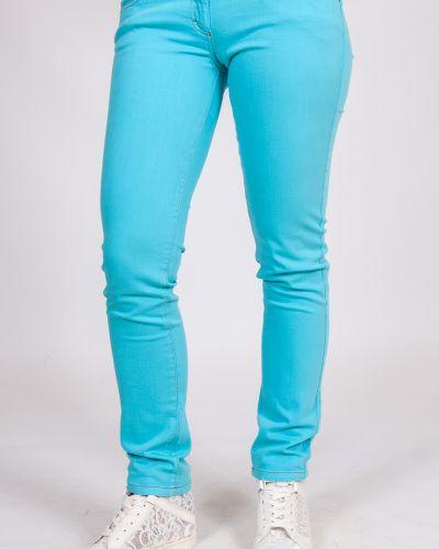Хлопковые бирюзовые домашние джинсы Blugirl