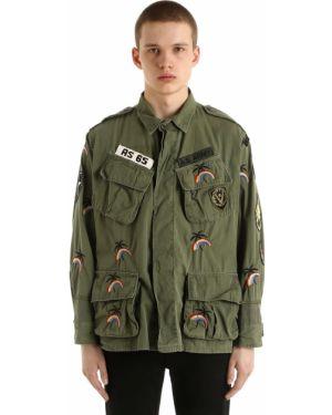 Zielona kurtka z haftem vintage As65
