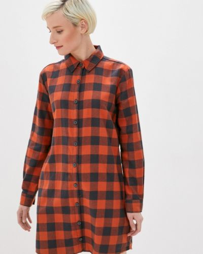 Коричневое платье-рубашка Sublevel