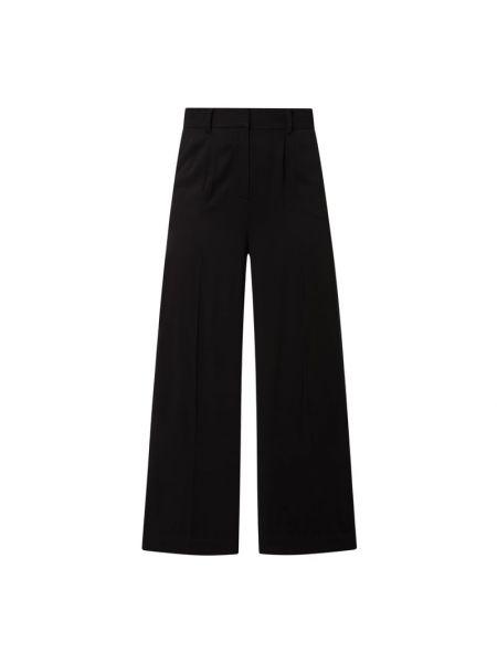 Czarne spodnie z wiskozy Edited
