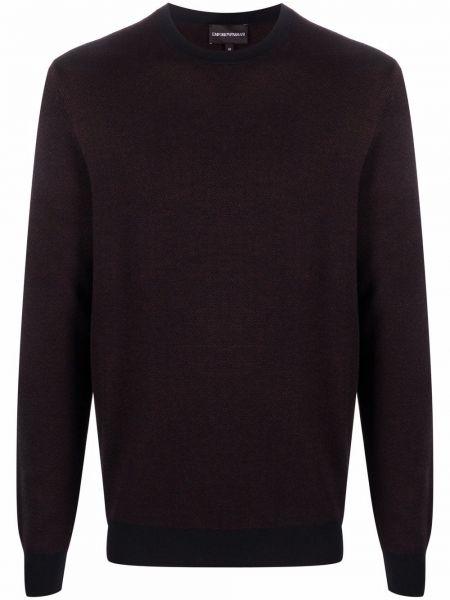 Sweter wełniany - fioletowy Emporio Armani