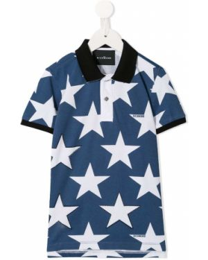 Асимметричная синяя рубашка на пуговицах John Richmond Junior