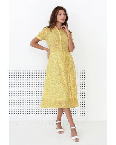 Платье с принтом - желтое Nenka