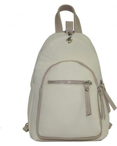 Кожаный рюкзак - бежевый Vera Pelle
