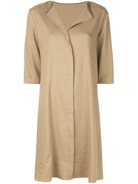 Соломенное коричневое классическое платье из вискозы Peter Cohen