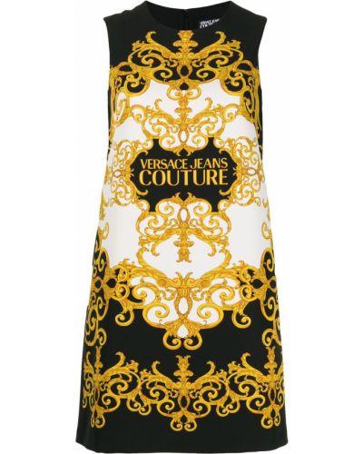 Желтое классическое джинсовое платье Versace Jeans