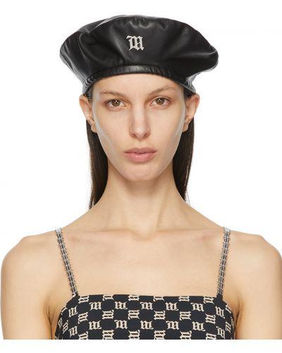 Czarny beret srebrny Misbhv