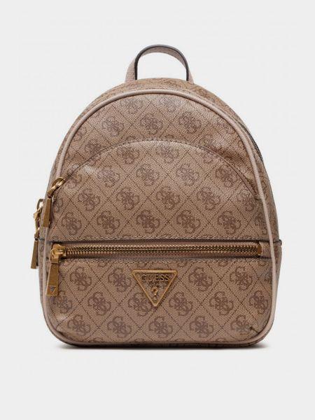 Рюкзак с карманами - бежевый Guess