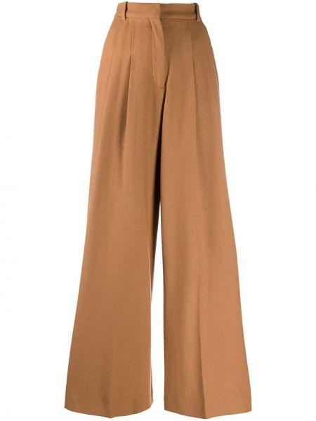 С завышенной талией коричневые брюки с карманами Joseph