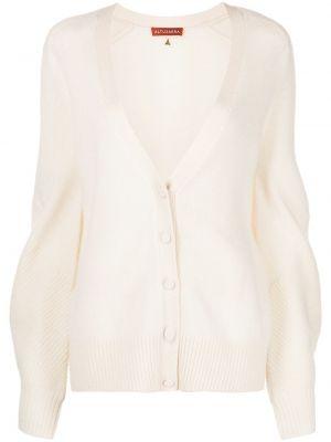 Biały sweter z dekoltem w serek Altuzarra