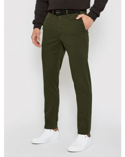 Zielone сhinosy Calvin Klein