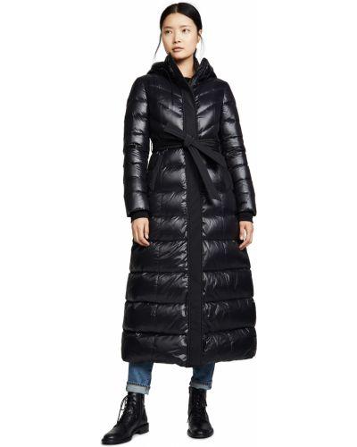 Черная кожаная куртка с капюшоном Mackage