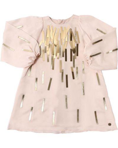 Шелковое платье макси - розовое Lanvin