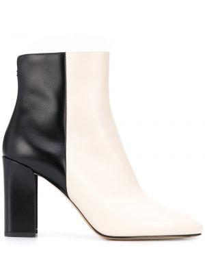 Czarny buty na pięcie na pięcie z prawdziwej skóry Nicholas Kirkwood