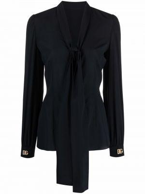 Черная блузка с бантом Dolce & Gabbana