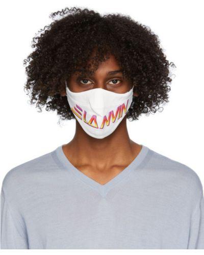 Трикотажная черная маска для лица стрейч Lanvin