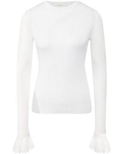 Тонкий трикотажный белый пуловер Chloé