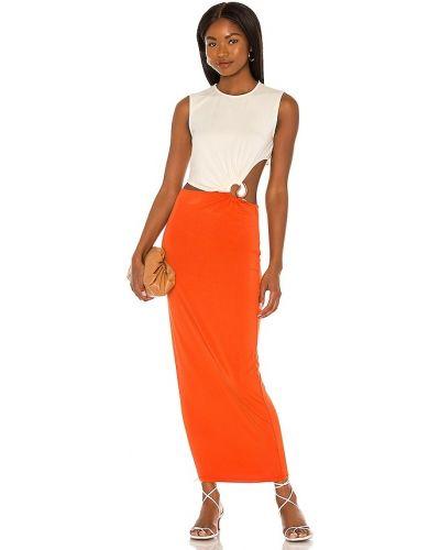 Вечернее платье классическое - оранжевое Ronny Kobo