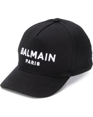 Czapka z logo czarny Balmain Kids