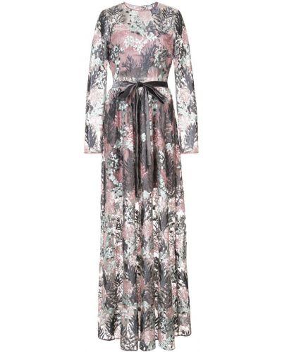 Платье макси с цветочным принтом с вышивкой Alexis