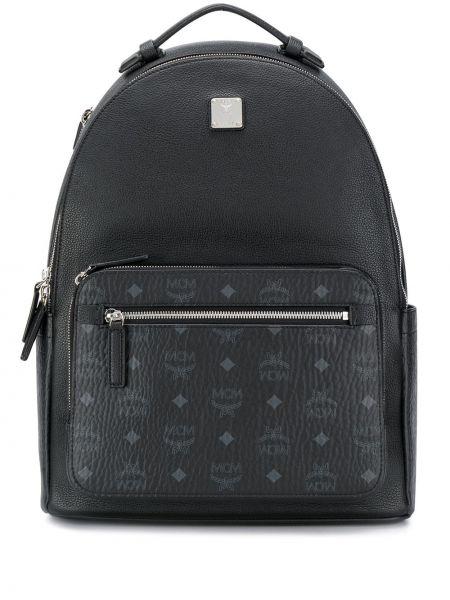 Кожаный рюкзак - черный Mcm