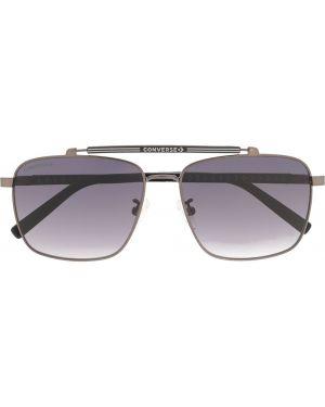Прямые черные солнцезащитные очки квадратные металлические Converse