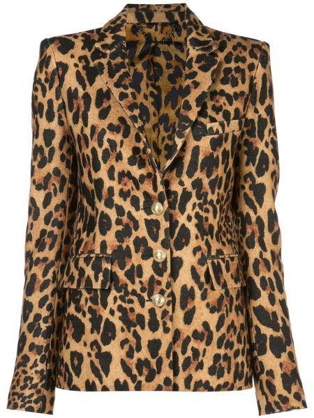 Однобортный пиджак с карманами Paco Rabanne