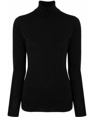 Черный шерстяной свитер John Smedley