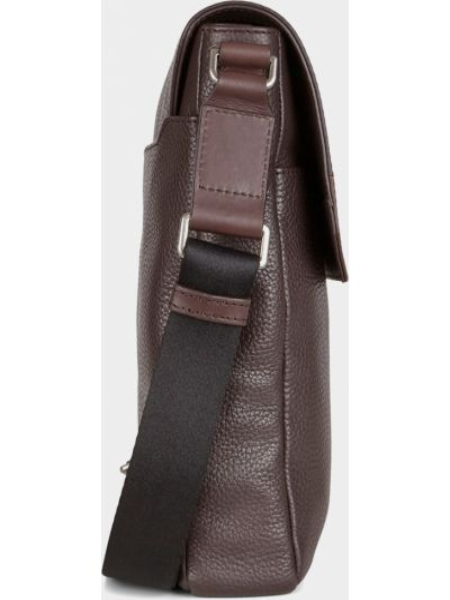 Кожаная сумка через плечо на молнии с карманами Ecco