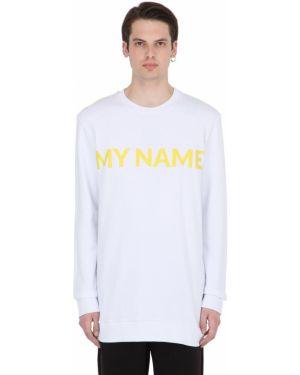 Prążkowana biała bluza Numero 00