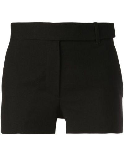Однобортные облегающие черные шорты Vera Wang