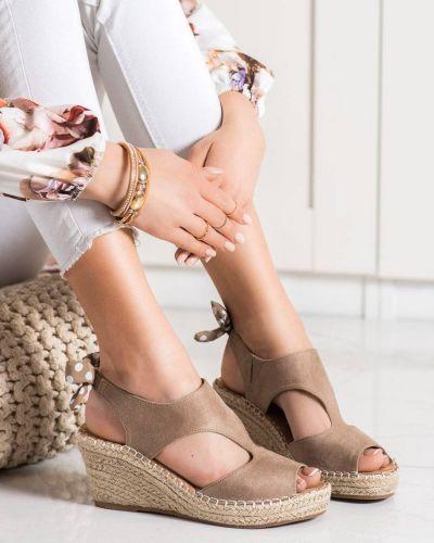 Sandały eleganckie zamszowe Evento