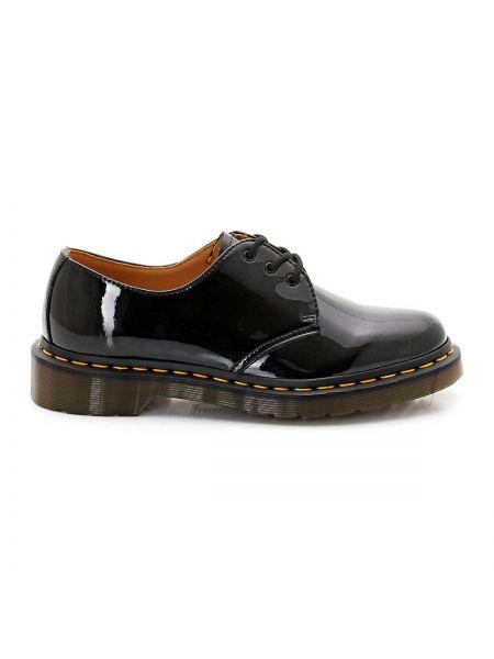 Ботинки на шнуровке кожаные лаковые Dr Martens