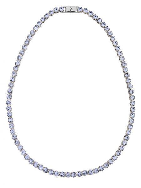 Naszyjnik łańcuch srebrny - niebieski Amina Muaddi