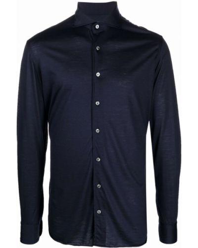 Niebieska koszula wełniana Lardini