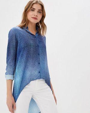 Блузка с длинным рукавом синяя весенний Sahera Rahmani