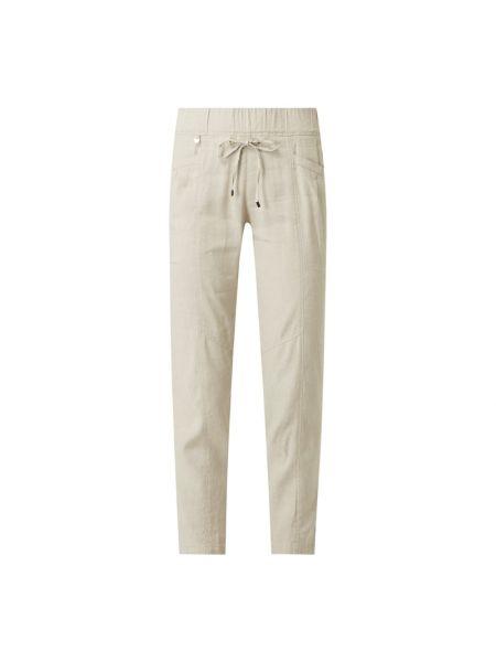 Beżowe spodnie z wiskozy Rosner