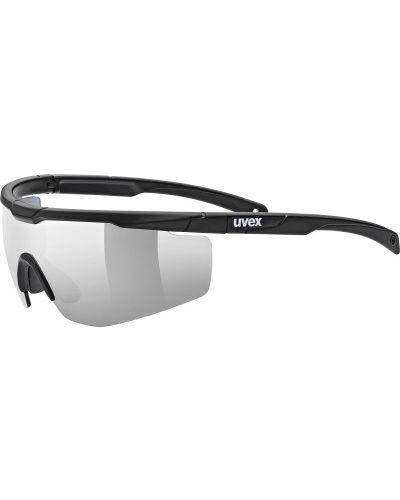 Солнцезащитные очки черные спортивные Uvex