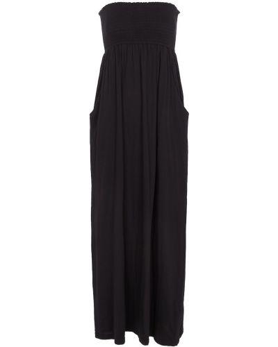 Черное бархатное платье макси Velvet