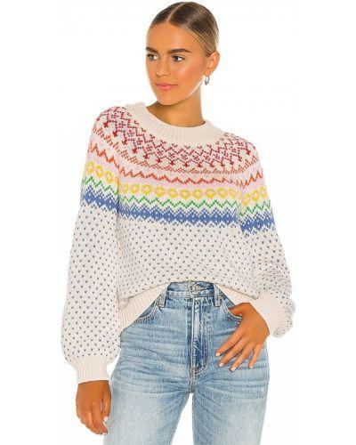 Ватный акриловый белый свитер Saylor