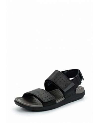 Черные сандалии кожаные Clarks