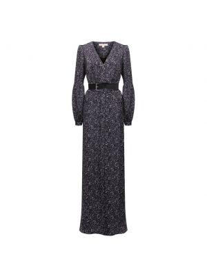 Кожаное платье - фиолетовое Michael Michael Kors