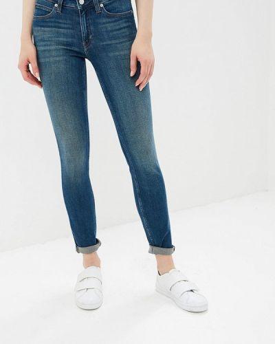 Синие джинсы-скинни Calvin Klein Jeans