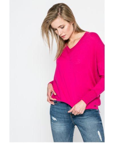 Малиновый свитер с V-образным вырезом Pepe Jeans