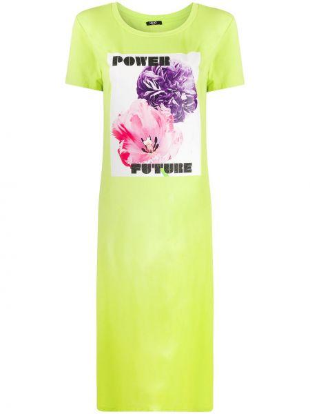 Платье мини футболка с разрезами по бокам Liu Jo