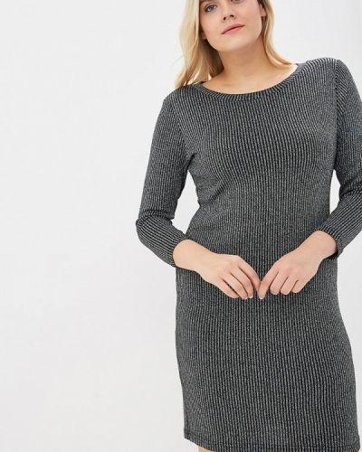 Повседневное платье осеннее серебряный Sparada