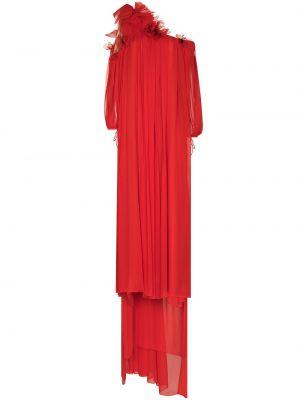 Шелковое платье макси - красное Oscar De La Renta