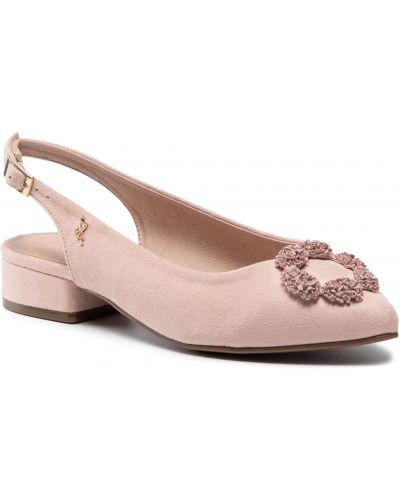 Różowe sandały na lato Menbur